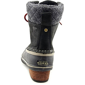Sorel Women's Slimpack Lace II Snow Boot, Black, Kettle, 8.5 M US