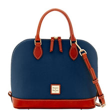 Dooney & Bourke Pebble Zip Zip Satchel  Midnight Blue