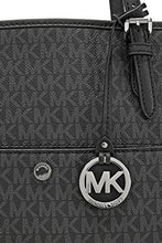 Michael Kors Jet Set Signature Tote, Black