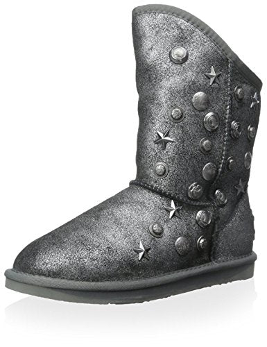 Australia Luxe Collective Women's Angel Short Boot, Crackle Black/Silver, 39 M EU/8 M US