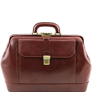 Tuscany Leather Leonardo Exclusive leather doctor bag Brown