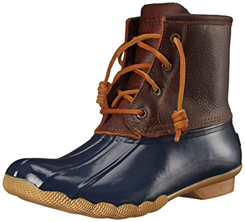 Sperry Top-Sider Women's Saltwater Boot, Tan/Navy, 8 M US