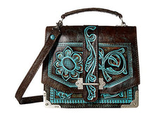 Patricia Nash Women's Stella Flap Shoulder Bag Turquoise Handbag