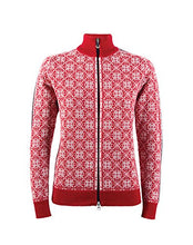 Dale of Norway Women's Frida Athletic Sweaters, X-Large, Raspberry/Off White/Navy/Metal
