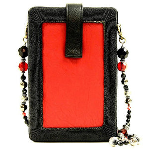 Mary Frances Lucky Lady Las Vegas Queen of Hearts Card Beaded Jeweled Handbag Shoulder Bag