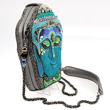 MARY FRANCES Good Karma Embellished Buddah Shoulder Handbag