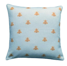 Blue Bees Cushion Cover