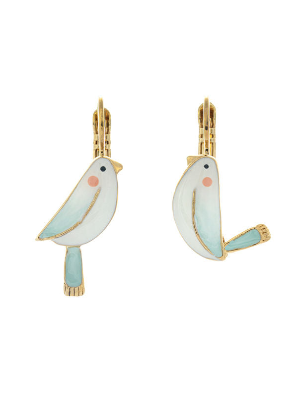 Taratata Bird Lever Back Earrings - Sur La Bouche