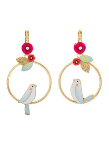 Taratata Bird in Hoop Earrings - Sur La Bouche