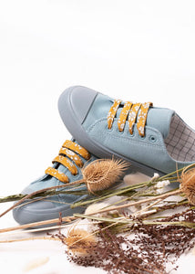 Liberty Fabric Shoelaces - Capel G Mustard