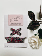Liberty Fabric Shoelaces - Petal and Bud Wine