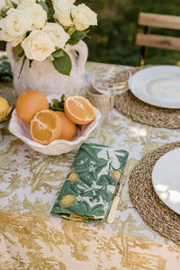 Gold Toile Tablecloth