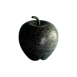 Large Black Marble Apple