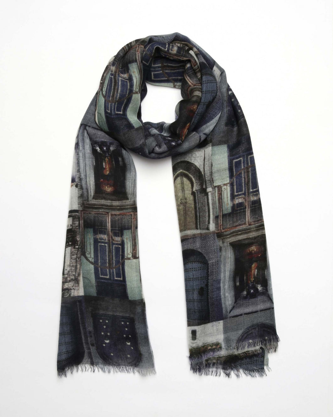 Doors of Europe Wool/Silk Scarf