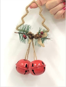 Rope Tree Double Round Christmas Bells