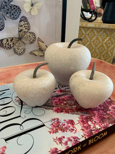 Large White Marble Apple