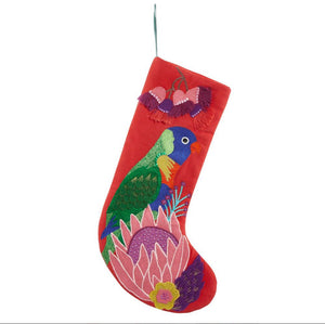 Lorikeet Christmas Stocking