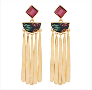 Taratata Lever Back Earrings - Rose BonBon