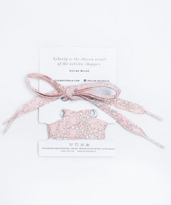 Liberty Fabric Shoelaces - Capel S Pink