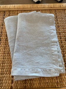 Linen Napkins Set of 6 - Soft Blue