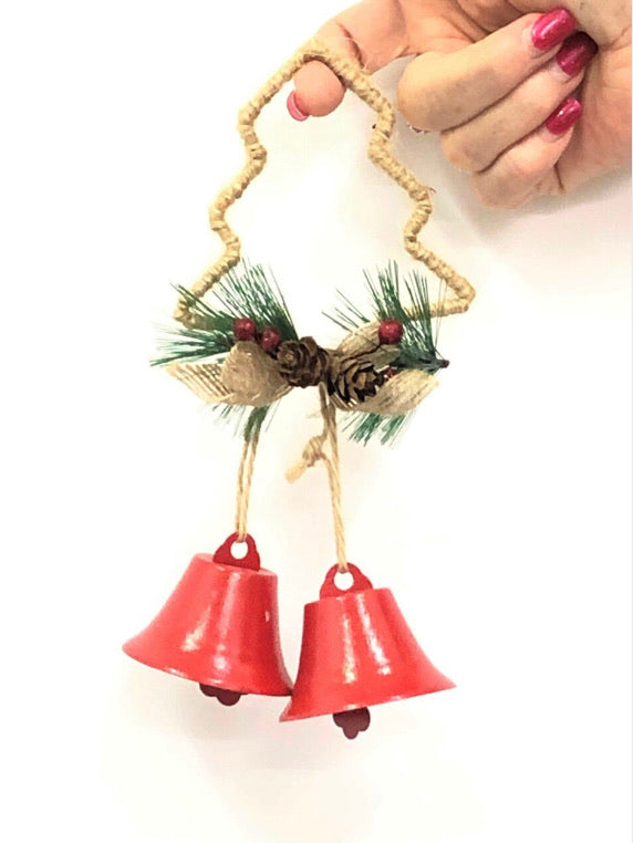 Rope Tree Double Christmas Bells