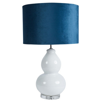 Velvet Lamp Shade - Navy Blue
