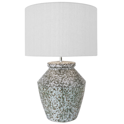 Olive Green Porcelain Lamp