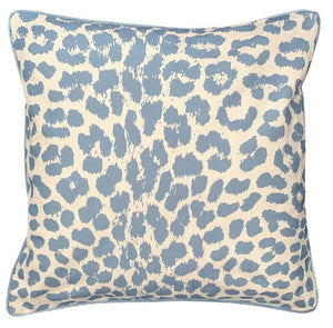 Pale Blue Leopard Cushion Cover