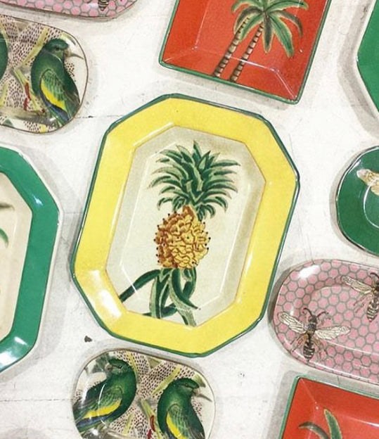 Porcelain Pineapple Wall Plate