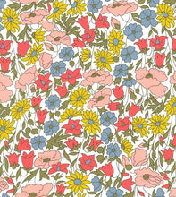Liberty Fabric Shoelaces - Poppy and Daisy 19A Apricot