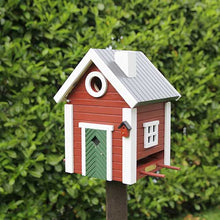 Red Cottage Style Bird House