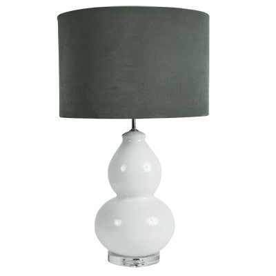 Velvet Lamp Shade - Sage Green