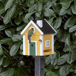 Yellow Cottage Style Bird House - PRE ORDER