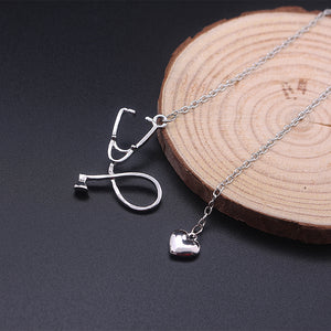 Stethoscope & Heart Necklace