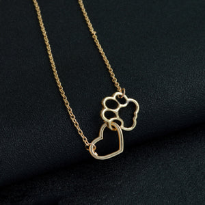 Paw Footprint Dog Lover Necklace