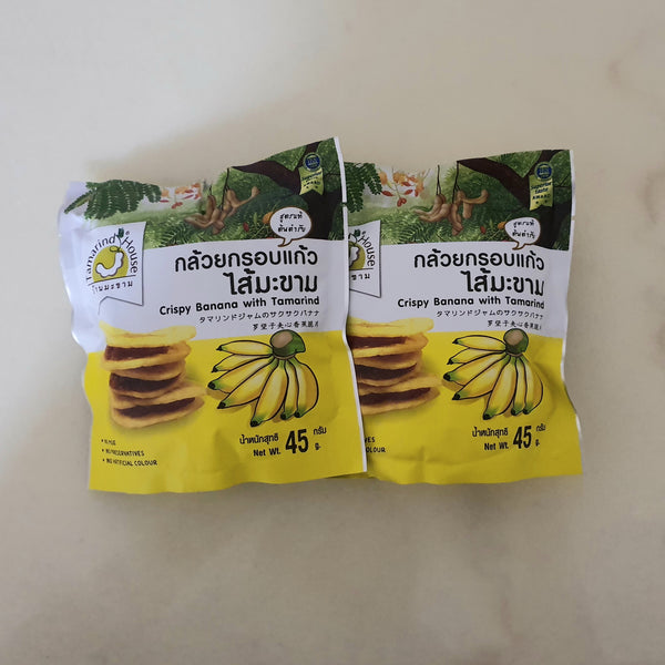 Crispy Banana Chips with Tamarind Jam 45g - NatureK