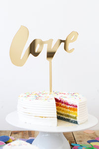 Just Love Cake Topper