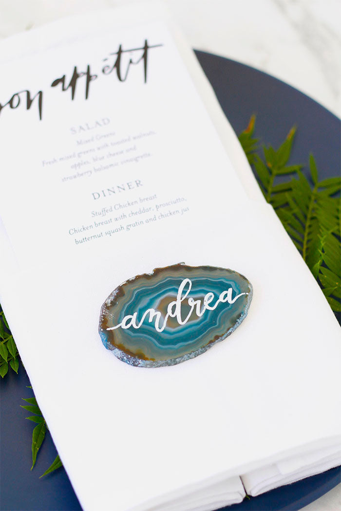 Agate Name Place Cards