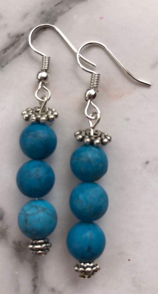 Howlite Boho Earrings