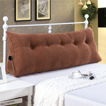Support Pillow Bed Backrest Triangular Cushion - MxDeals.com