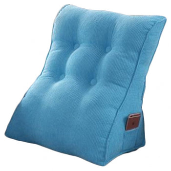 Removable Cover Wedge Cushion Bed Backrest - MxDeals.com