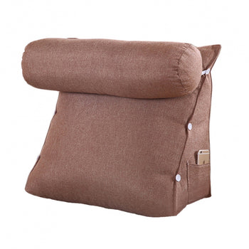 Support Pillow Removable Cover Bed Backrest - MxDeals.com
