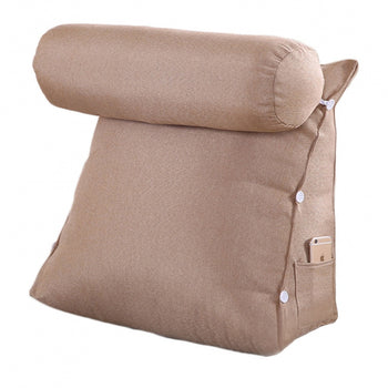 Removable Cover Triangular Cushion Bed Backrest