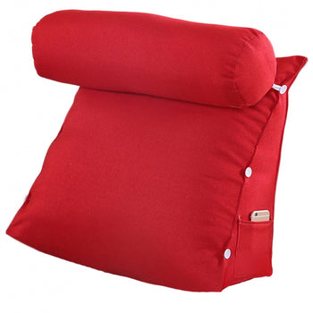 Removable Cover Bed Backrest Triangular Cushion