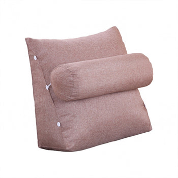 Triangular Cushion Bed Backrest Removable Cover
