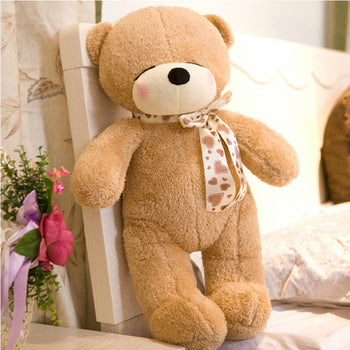Light Brown Teddy Bear Sleeping Shy Children Gift