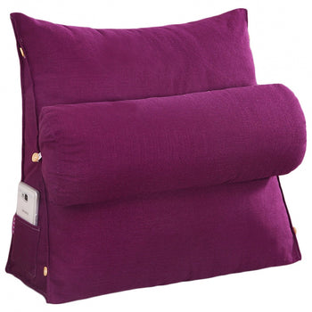 Bed Backrest Removable Cover Support Pillow