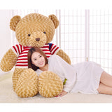 Rose Velvet Teddy Bear Light Brown Wear Sweater