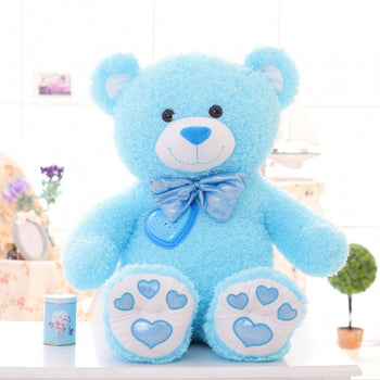 Blue Teddy Bear Can Luminescence Children Gift
