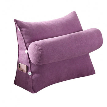 Removable Cover Support Pillow Bed Backrest